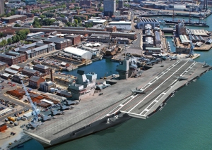 Aircraft carrier in portsmouth
