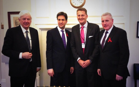 Vernon Coaker and Ed Miliband meeting BLESMA Representatives