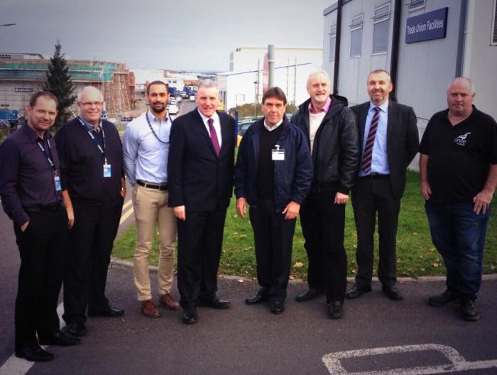 Vernon Coaker meets with trade union representatives