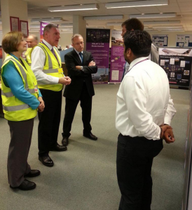 Meeting apprentices at Marshall Aerospace